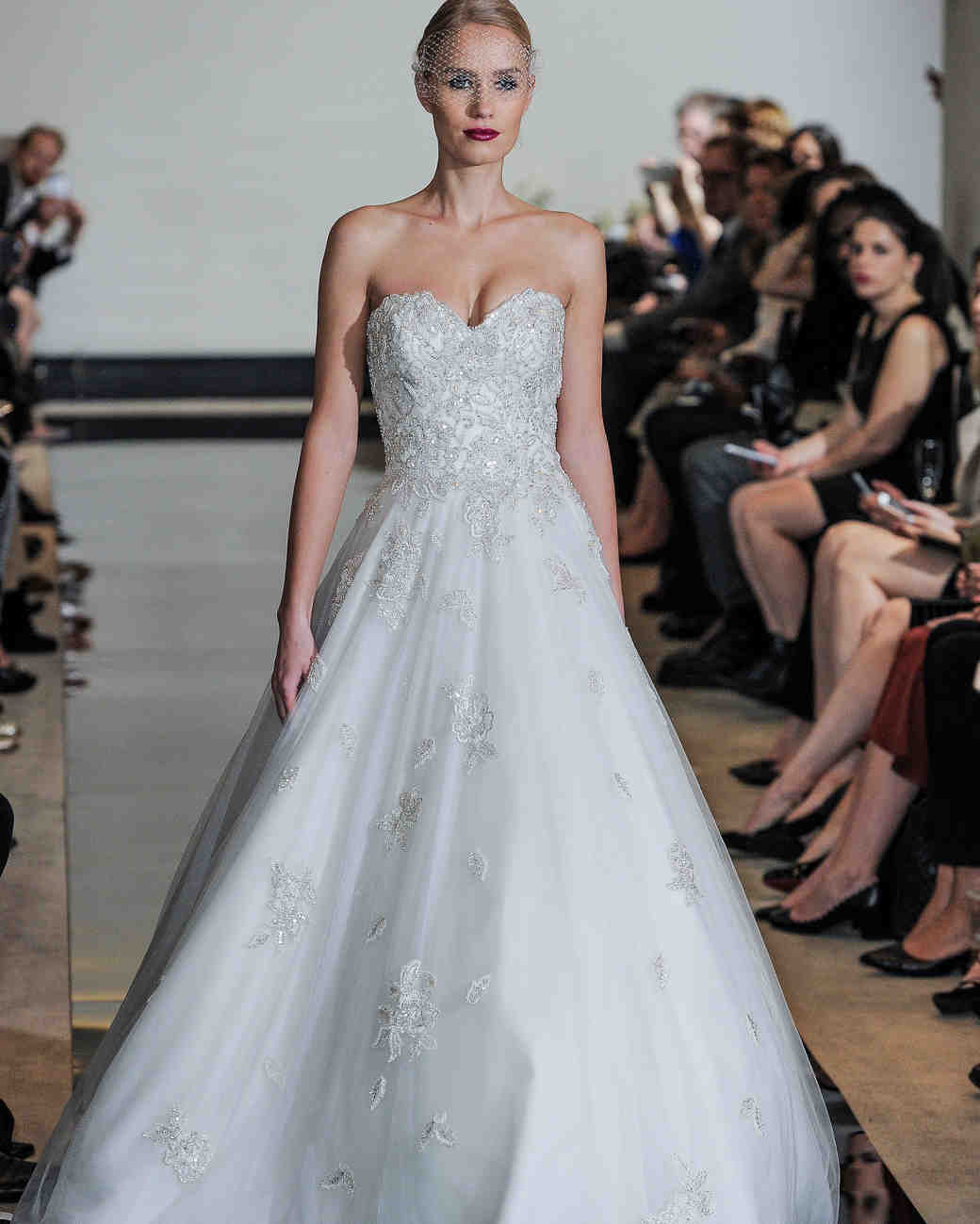 Justin Alexander Beaded A-Line Wedding Dress Spring 2018