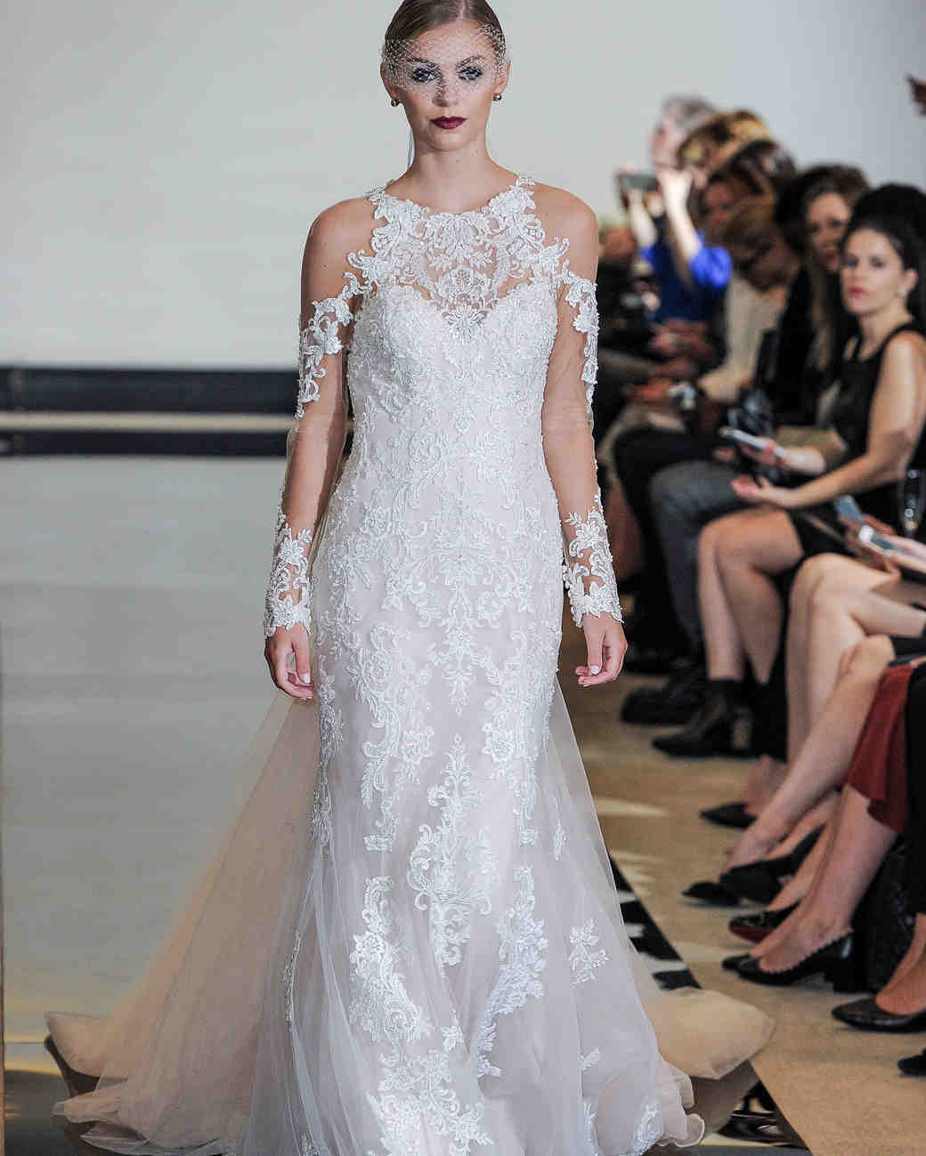 Justin Alexander Wedding Dress with Three-quarter length sleeves Spring 2018