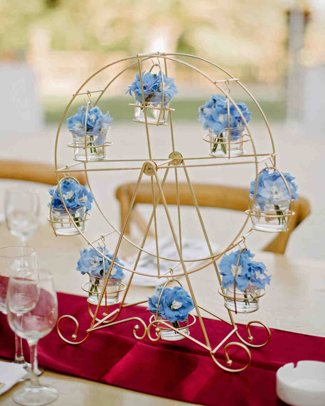 lara kjell circus party centerpiece decor flowers