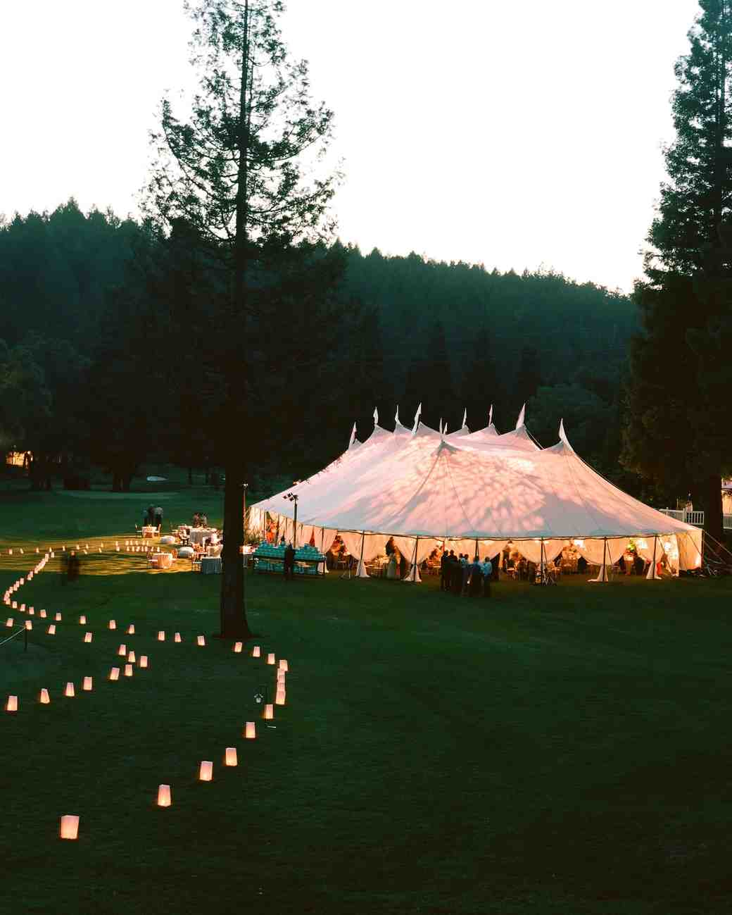 wedding reception tent & 50 Tips for Planning Your Wedding Reception | Martha Stewart Weddings