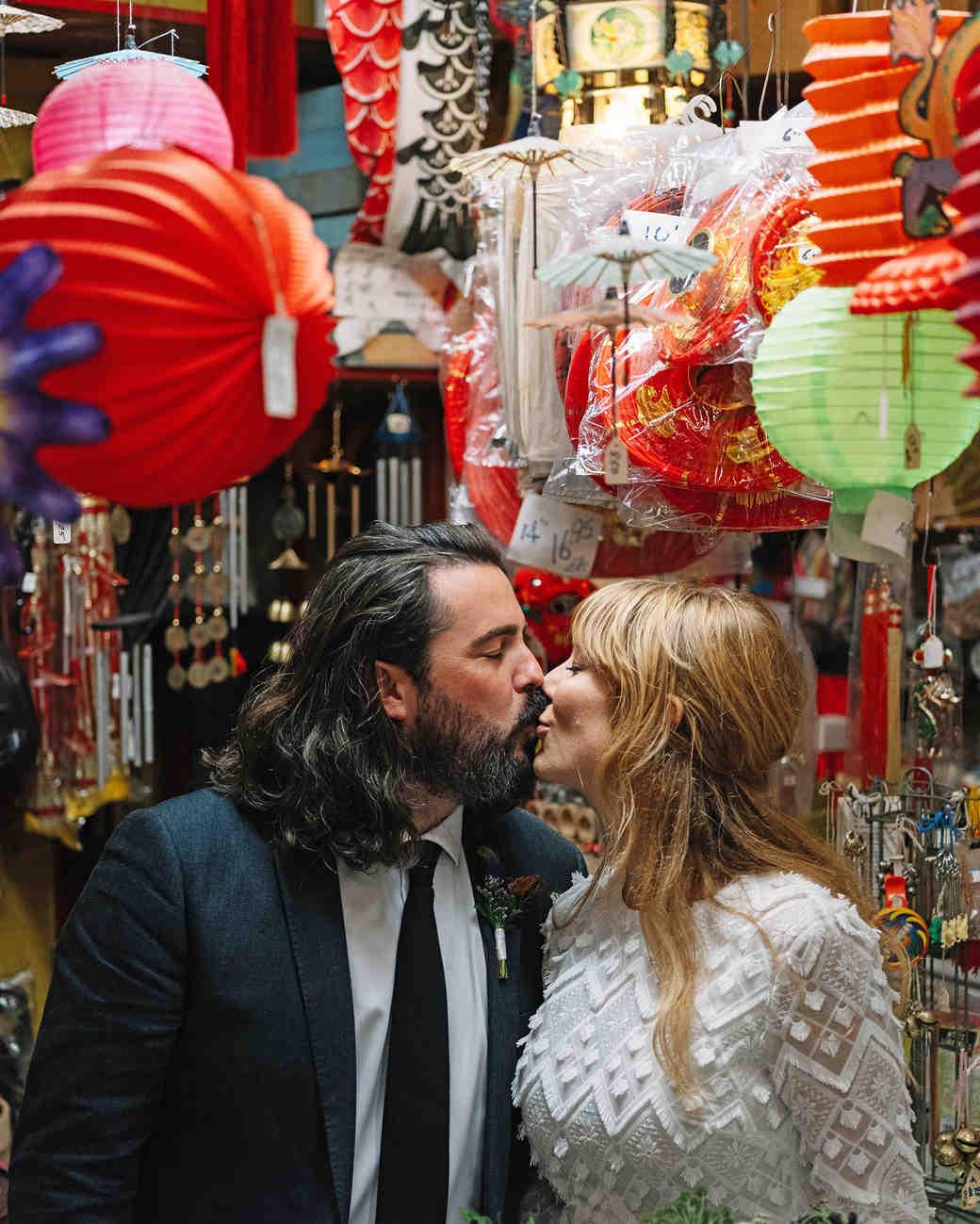 morgan jon paul wedding couple kissing chinatown