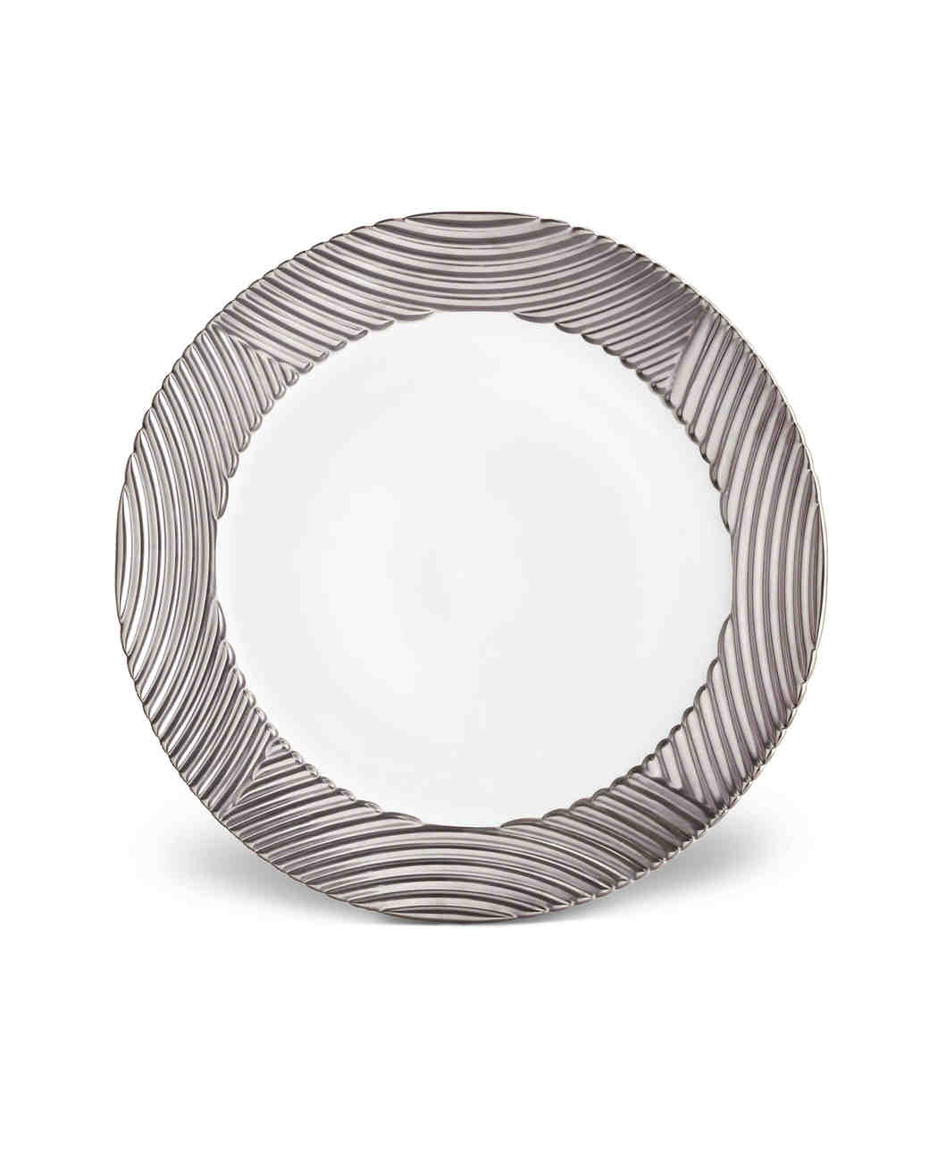platinum anniversary gifts charger plate