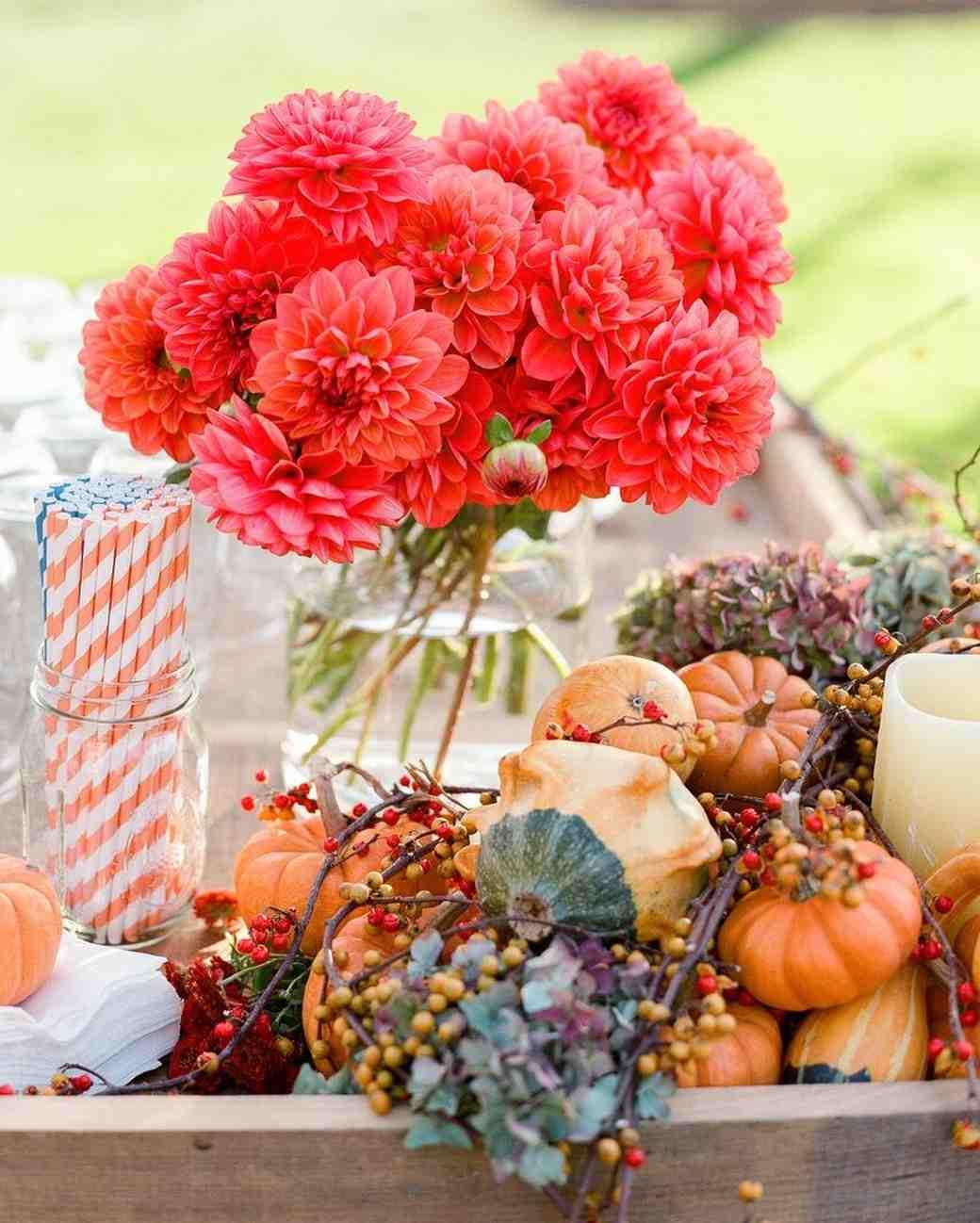 pumpkin wedding display