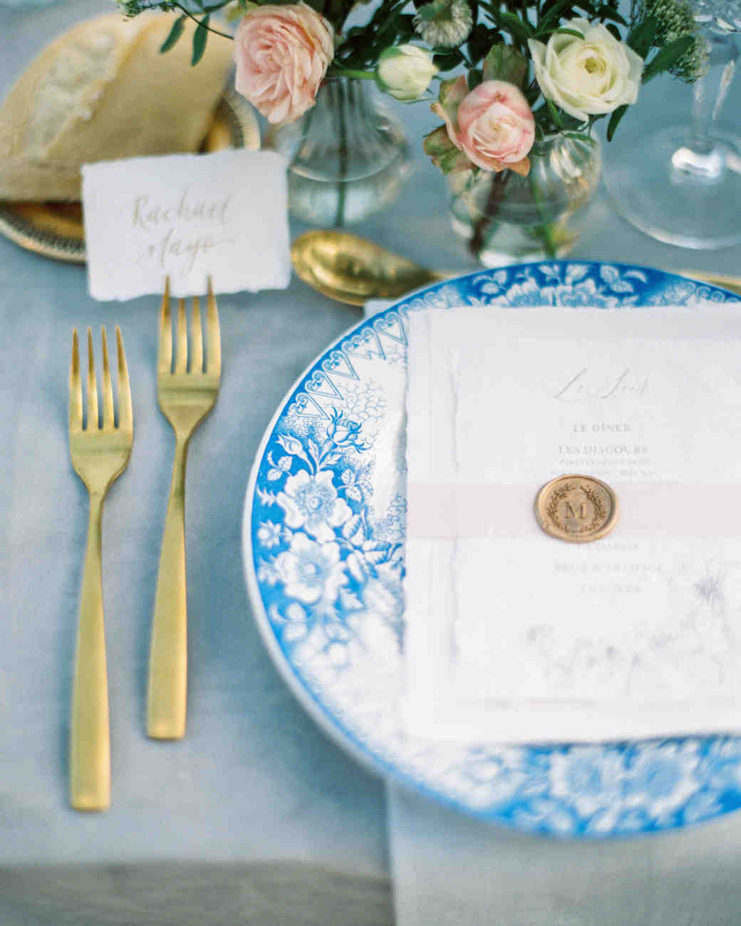 rachael cameron wedding place setting