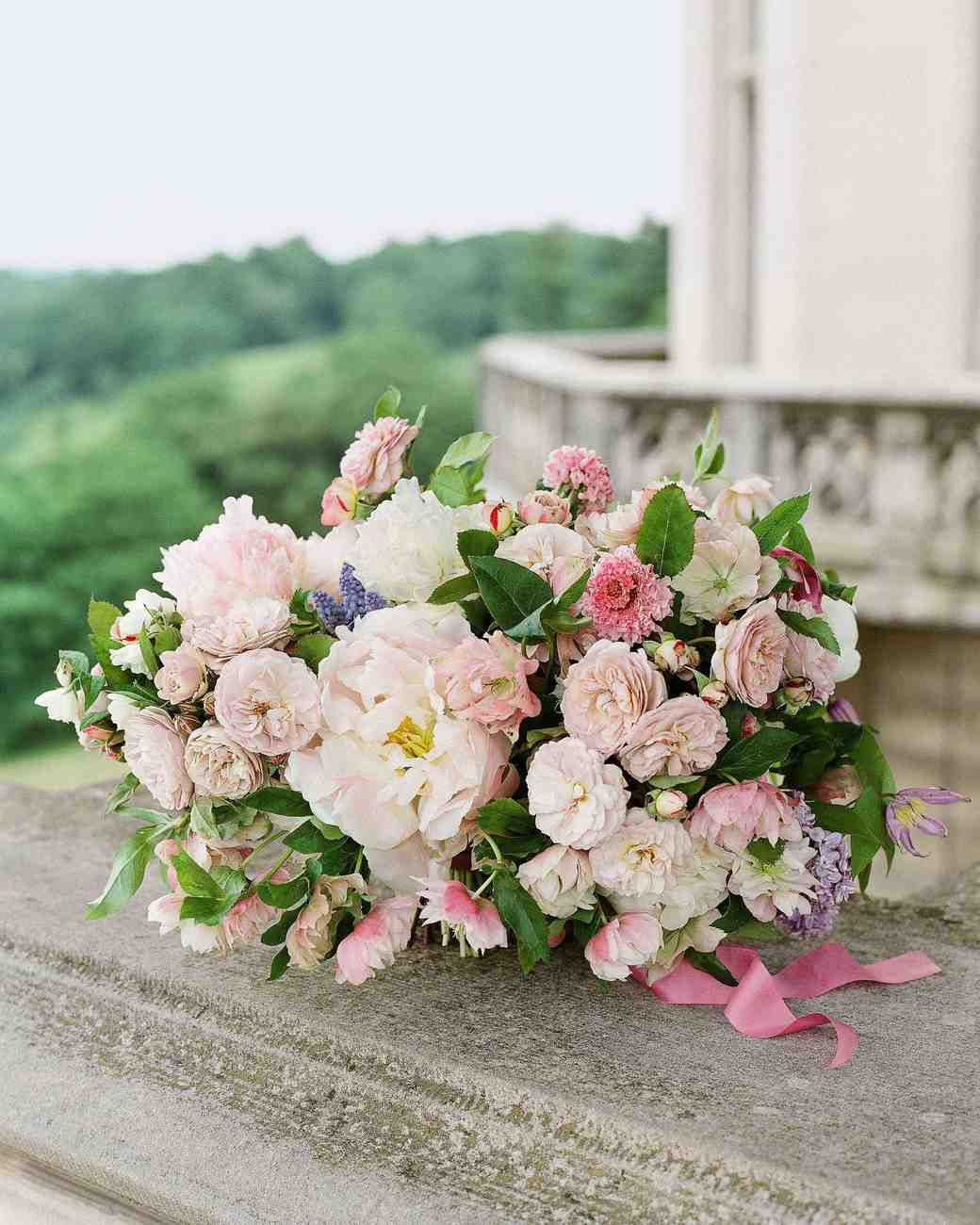The prettiest pink wedding bouquets martha stewart weddings izmirmasajfo Images