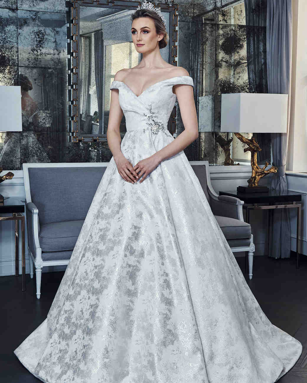 romona keveza collection wedding dress spring 2019 off the shoulder ball gown