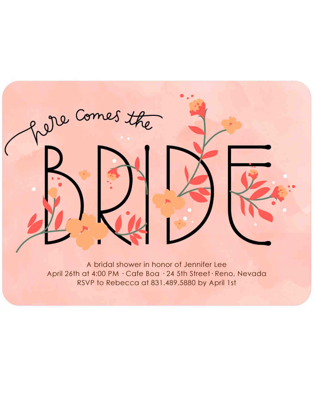 Bridal Shower Invitations We Love – Shower Invitations for Wedding