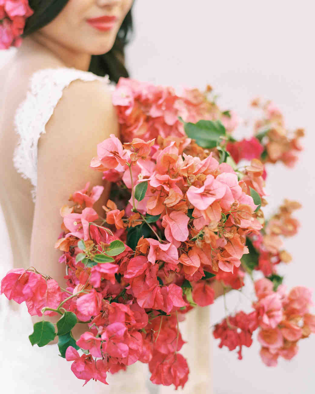 single flower wedding bouquet begonias