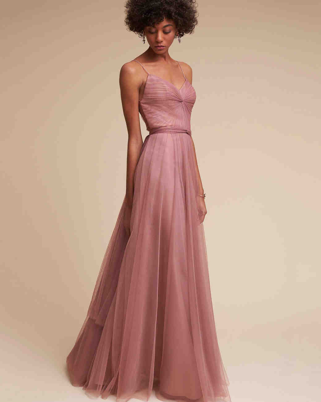 Spaghetti Strap Bridesmaid Dress
