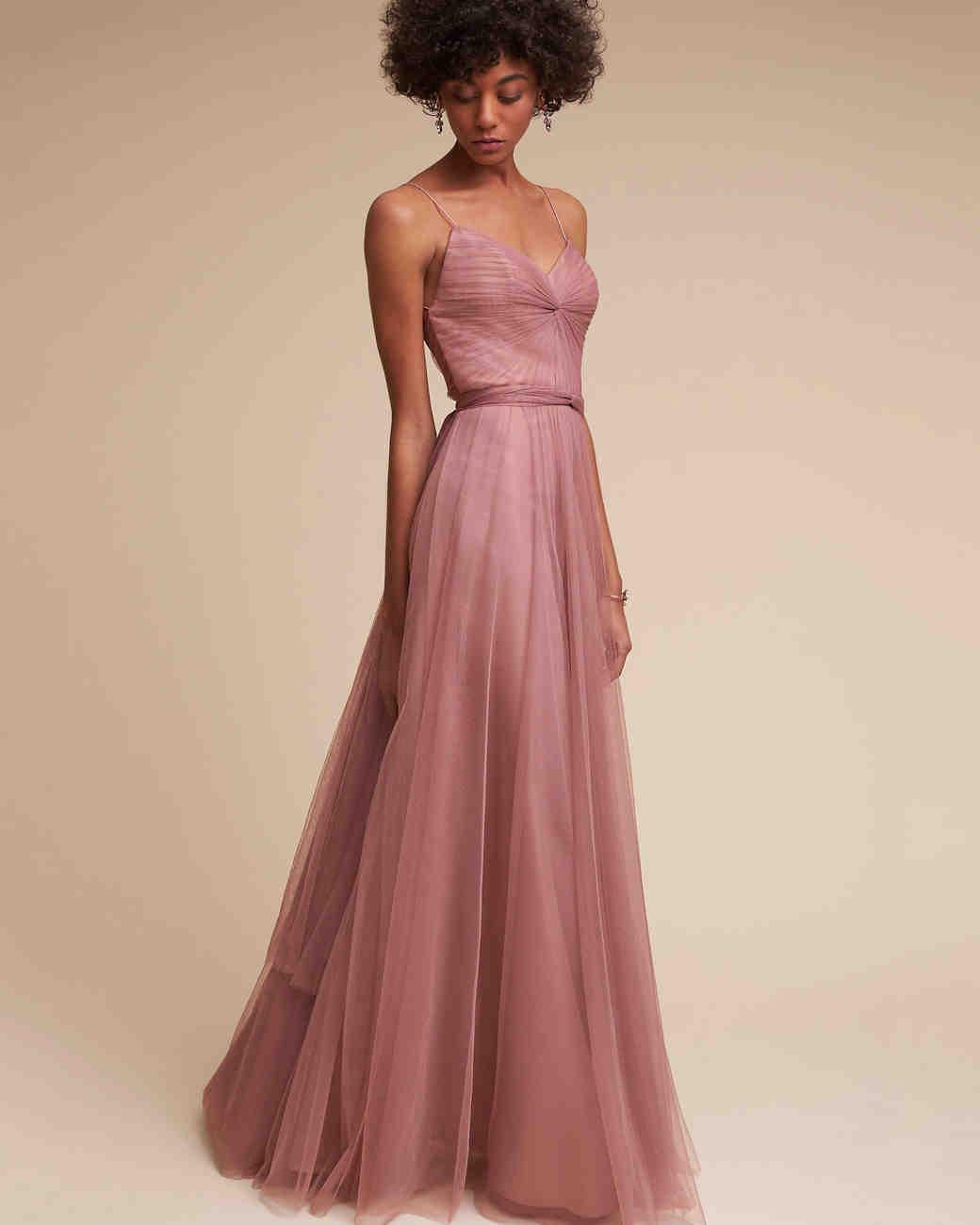 Spaghetti Strap Bridesmaid Dresses | Martha Stewart Weddings