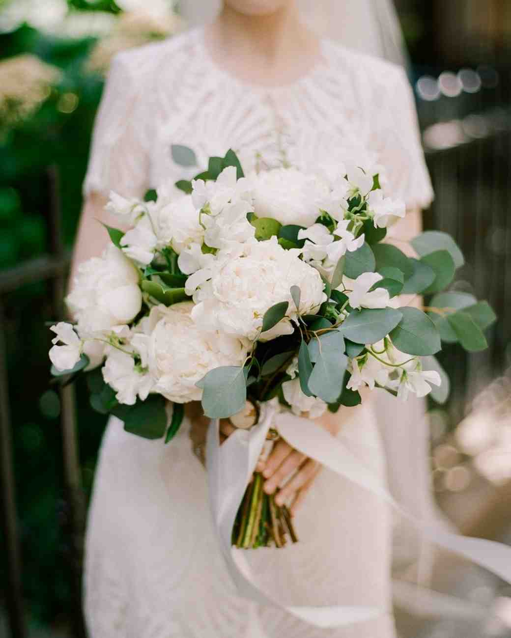 An All-White Wedding Bouquet