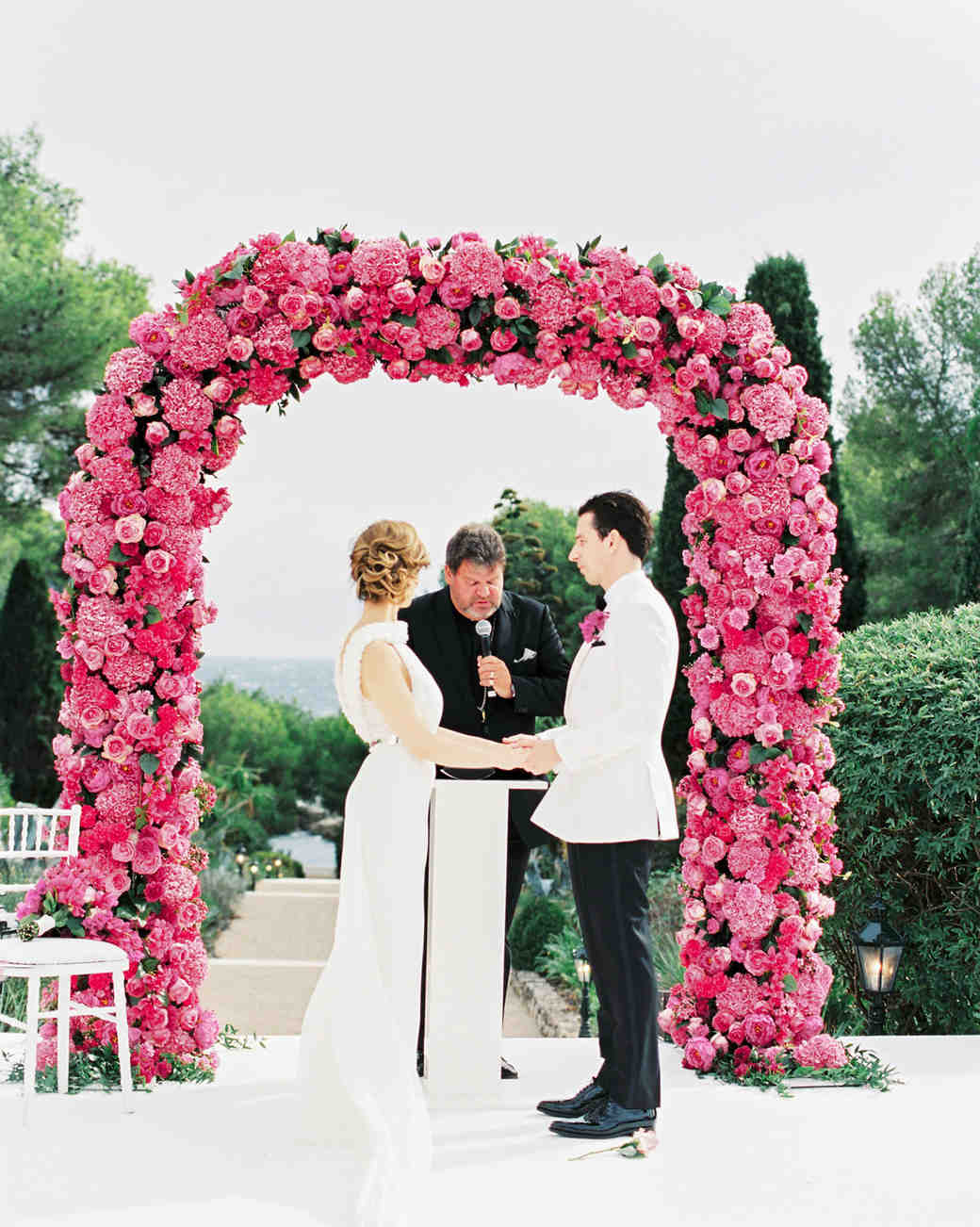 stephanie nikolaus wedding ceremony couple