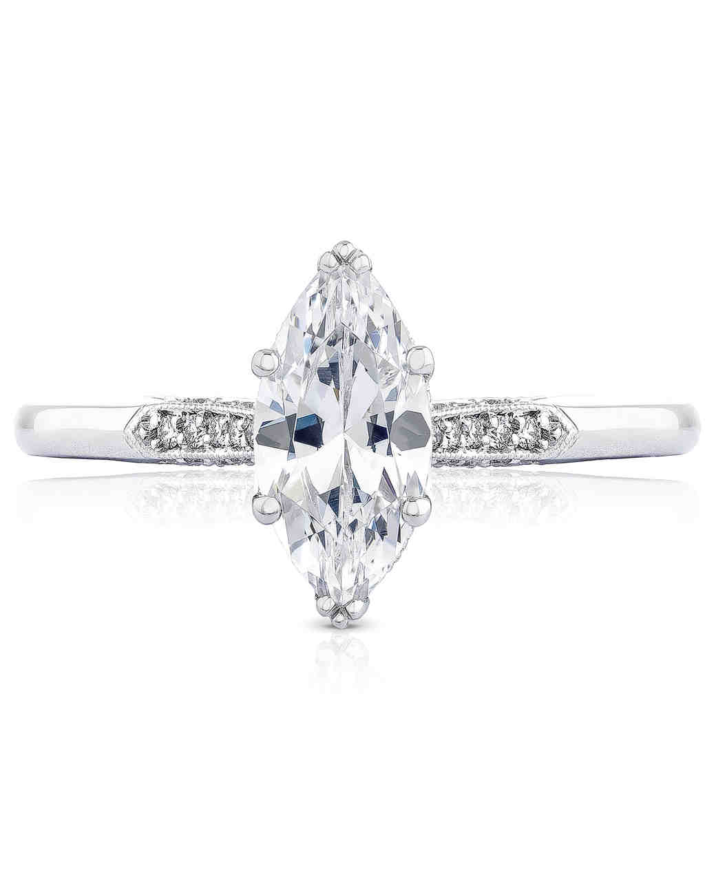 Simple Style Marquise-Cut Engagement Ring