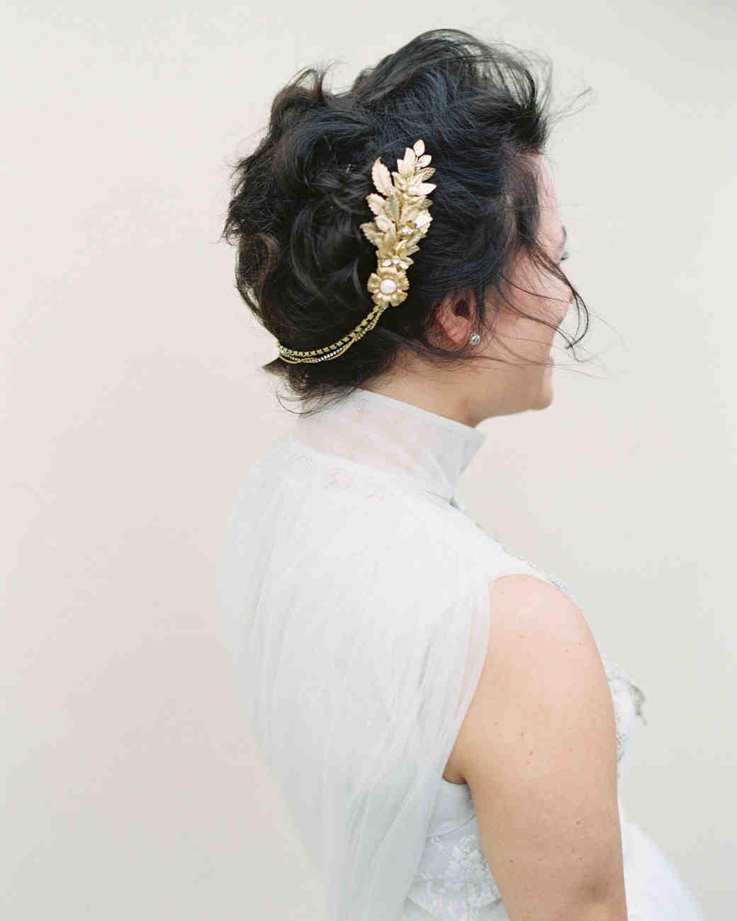 bride hair clip hair