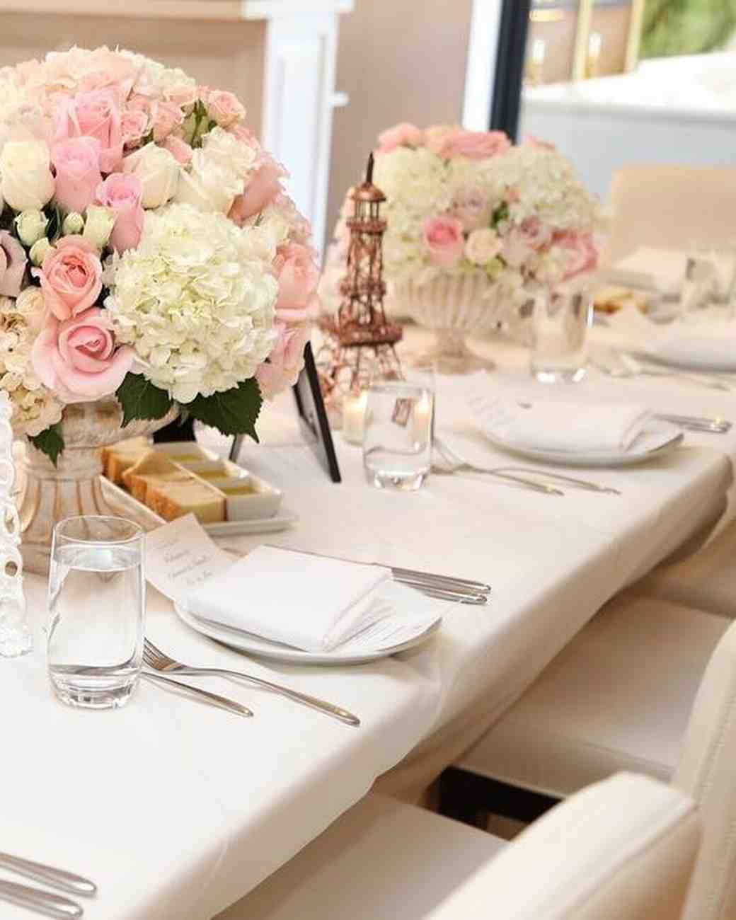 Adrienne Bailon's Wedding Shower Table Arrangements