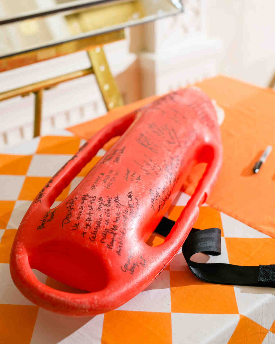guest book buoy lifegard signatures red
