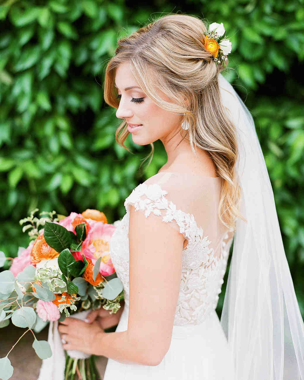 Wedding Hairstyle Photos: 28 Half-Up, Half-Down Wedding Hairstyles We Love
