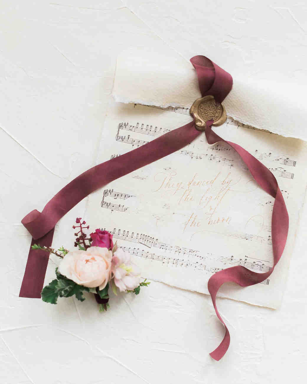 music sheet wedding invitation