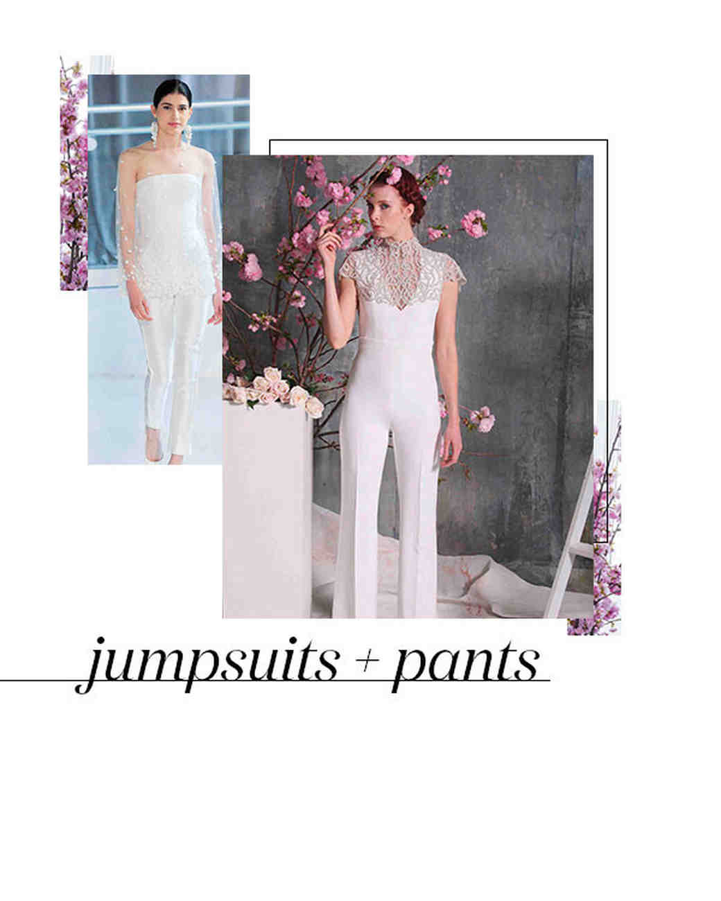Spring 2018 Bridal Fashion Week Trend Jumpsuits