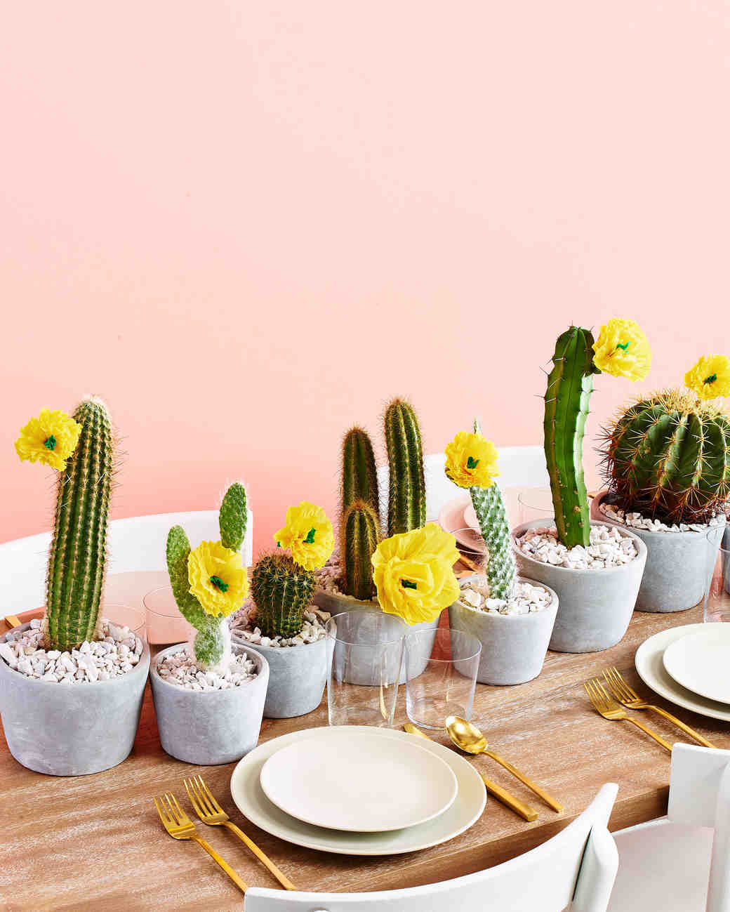 Cactus Wedding Reception Table