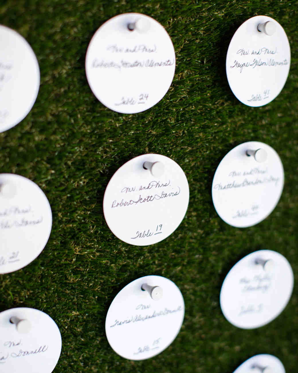escort cards golf