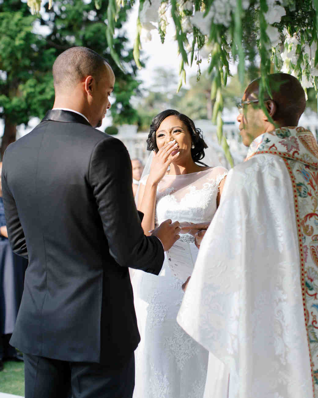 chloe shayo south africa wedding ceremony couple