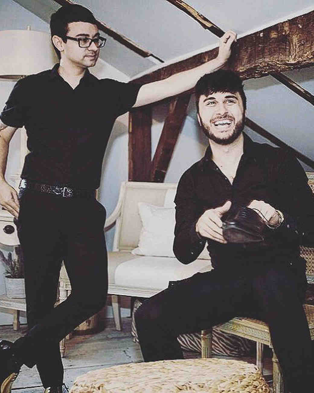 Christian Siriano and Brad Walsh's Pre-Wedding Portrait