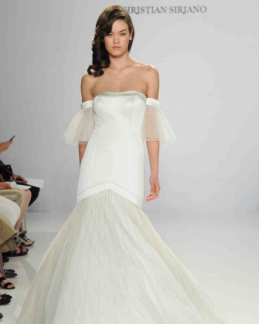 Christian Siriano Tulle Trumpet Gown