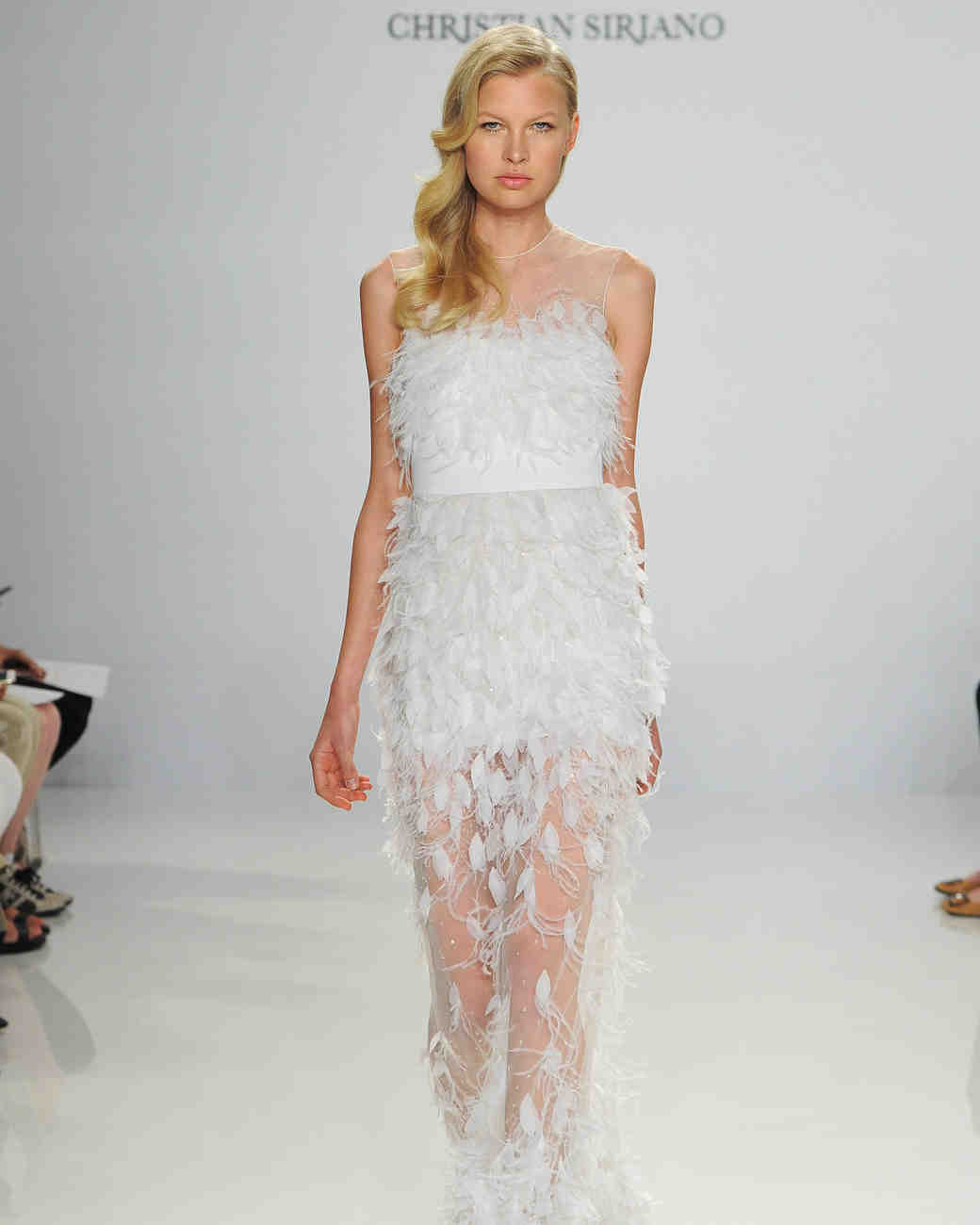 Christian Siriano Feather Applique Gown