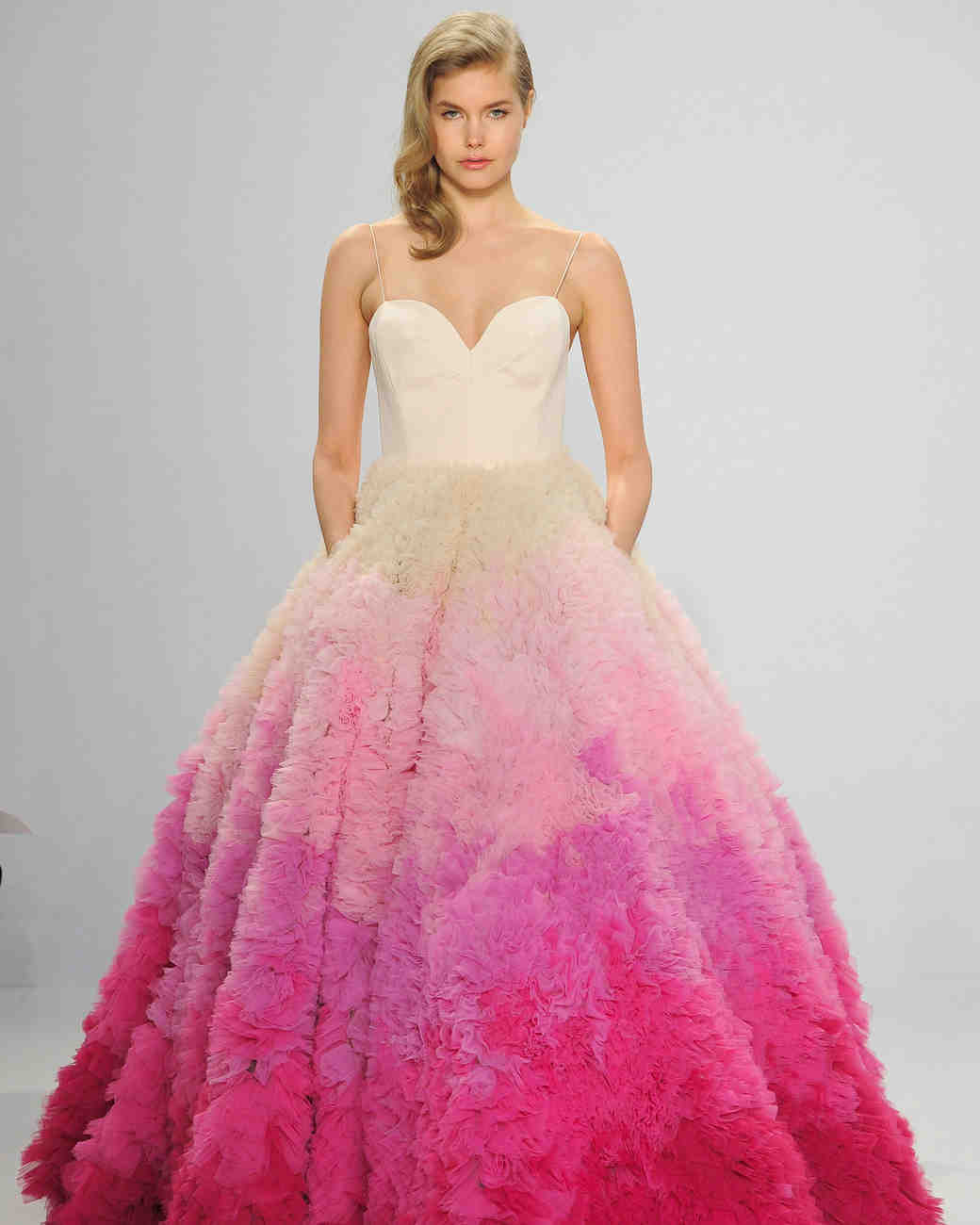 Pink Wedding Ball Gown with Pockets