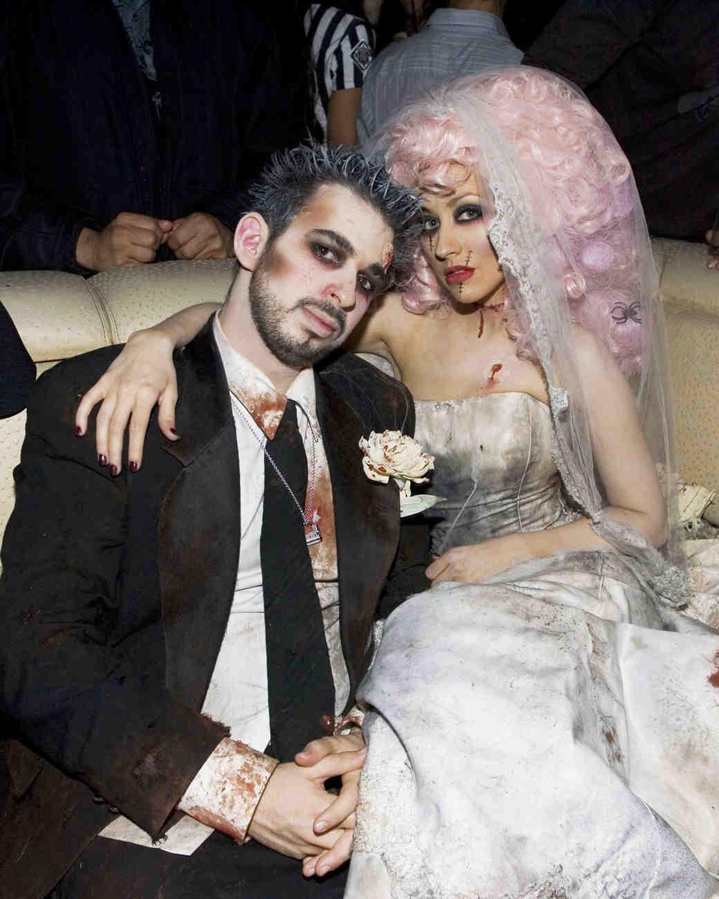 Christina Aguilera  sc 1 st  Martha Stewart Weddings & 15 Celebrities Who Went Bridal for Halloween | Martha Stewart Weddings