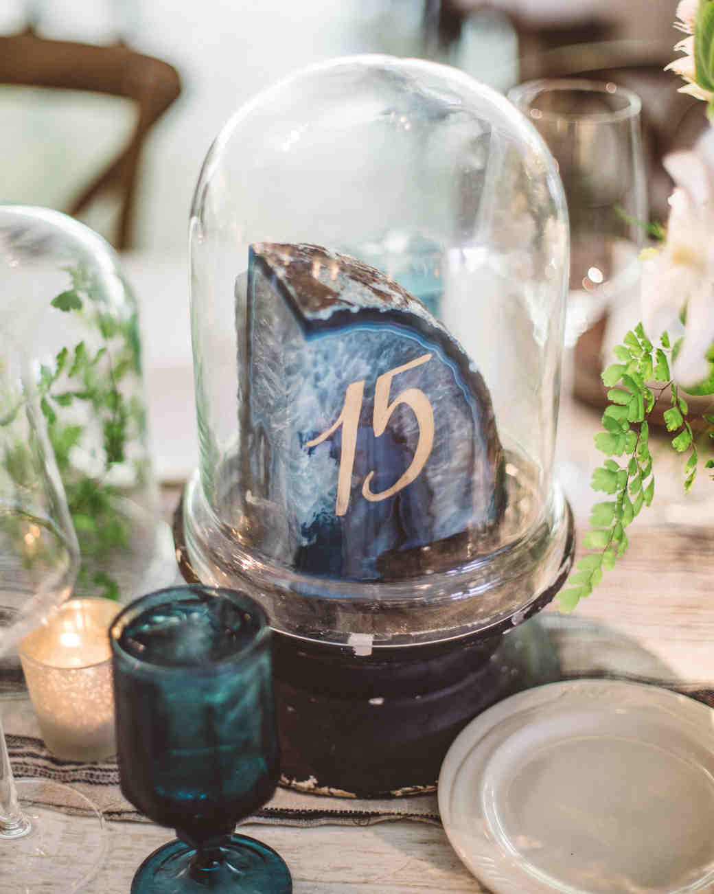 cloche geode table number