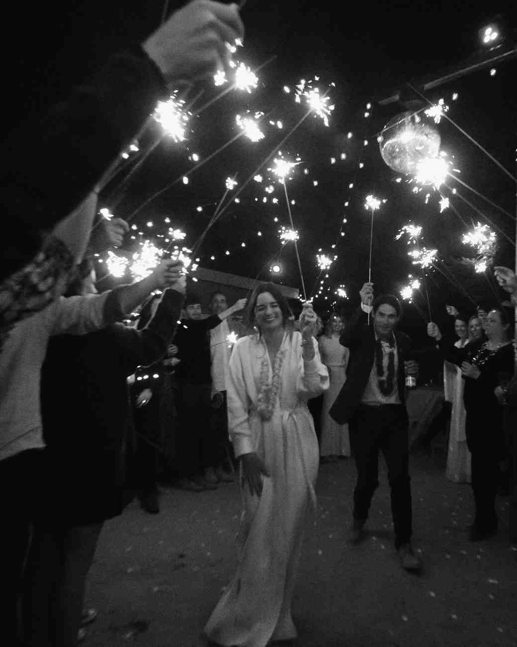 darcy matt wedding sparkler send off