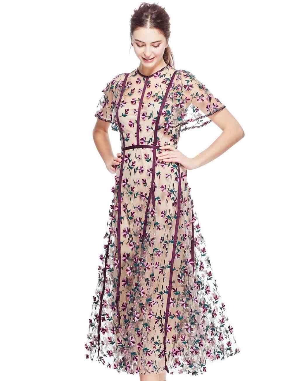 Lela Rose Floral Engagement Party Dress