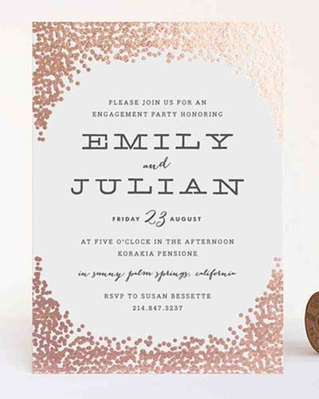 15 engagement party invitations martha stewart weddings - Engagement Party Invite