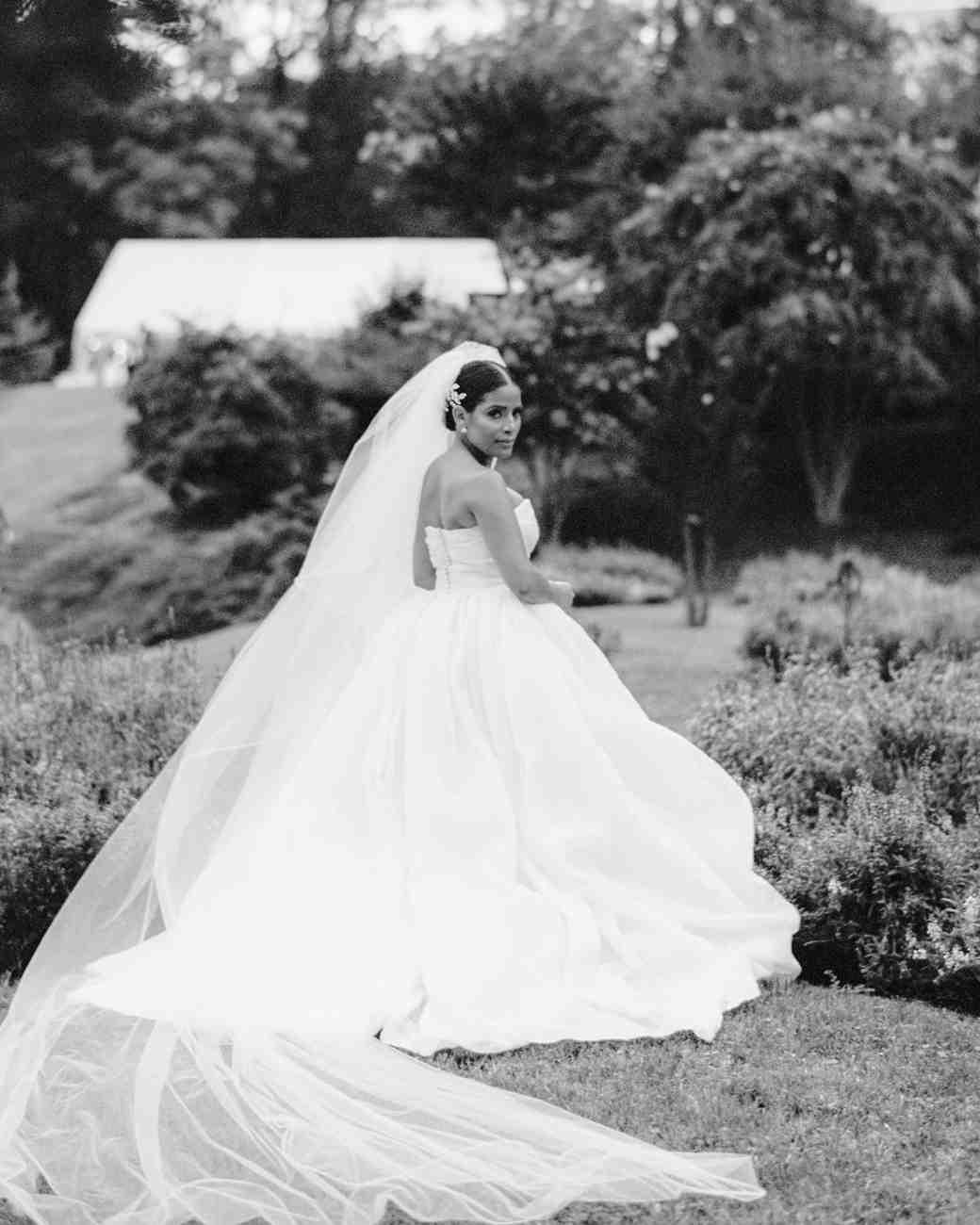 glamorous wedding ideas bride ball gown