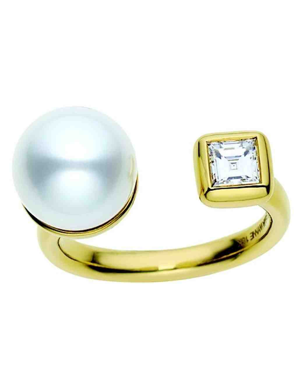 Jemma Wynne Pearl Engagement Ring