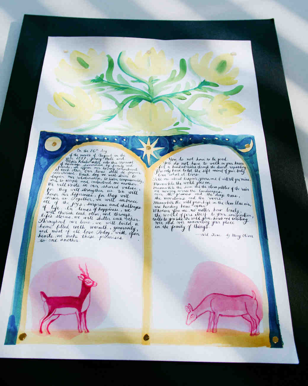 marriage document painting