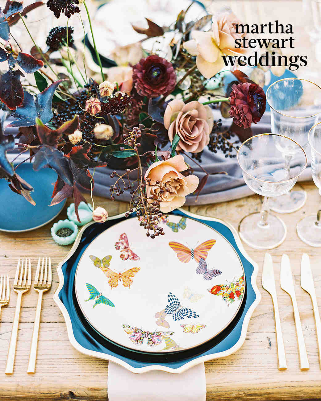 Steven Yeun Walking Dead Wedding butterfly plate