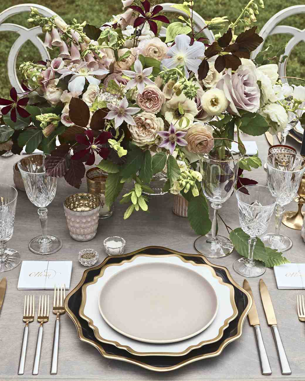joyann jeremy wedding table setting