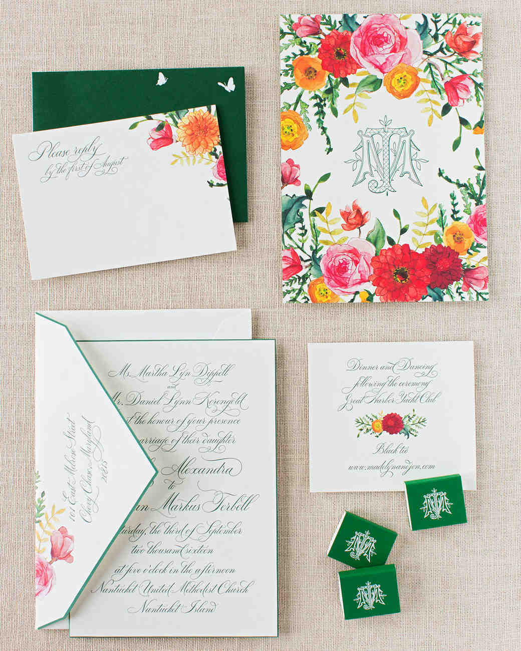 madelyn jon wedding stationery