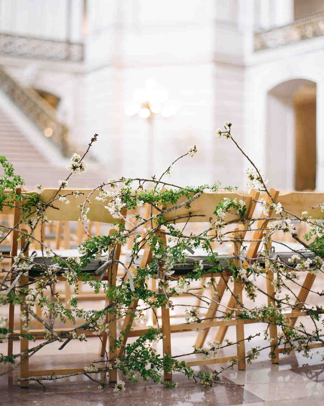 wedding branches chairs