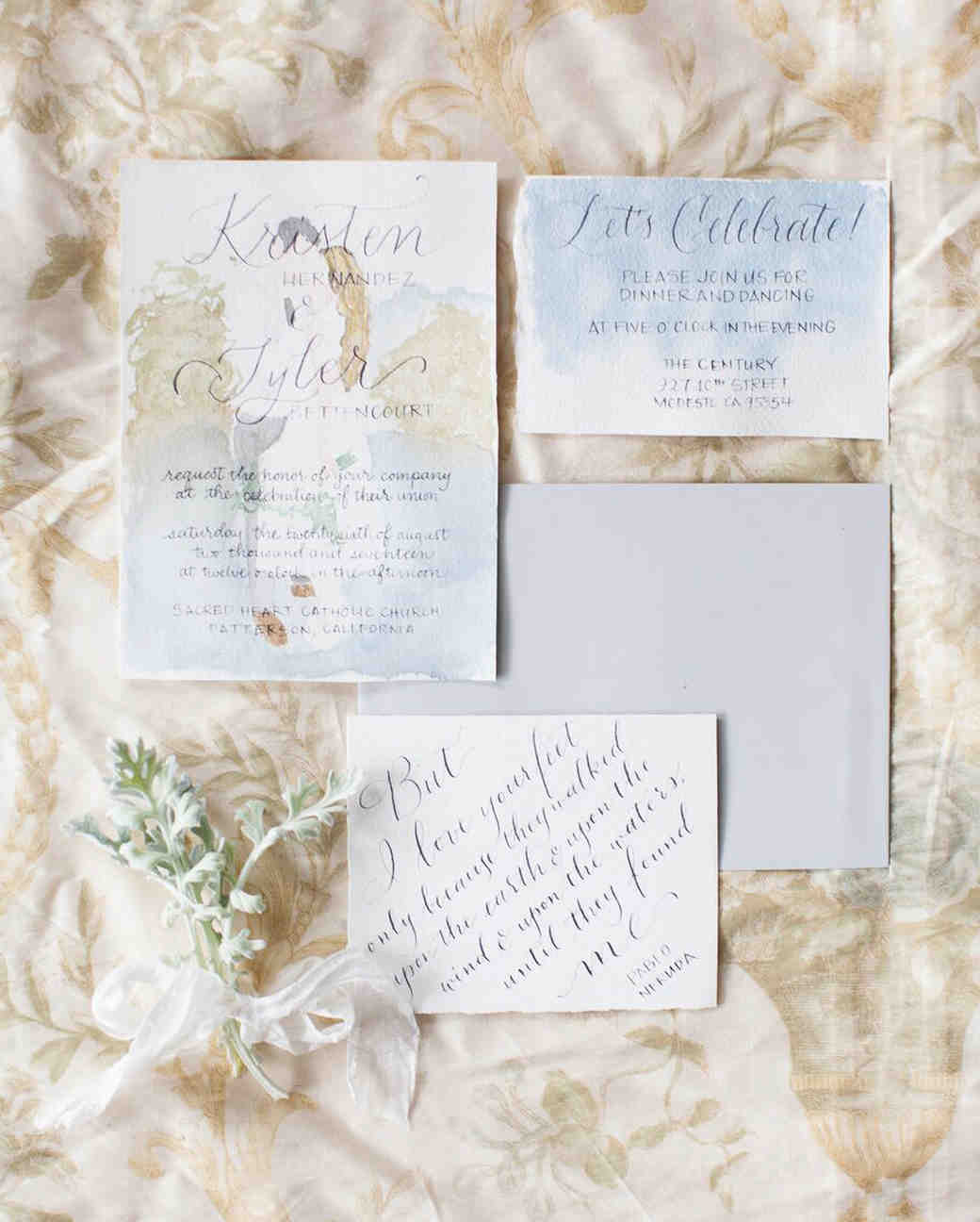 The Etiquette of Wedding Invitation Enclosures Martha Stewart Weddings