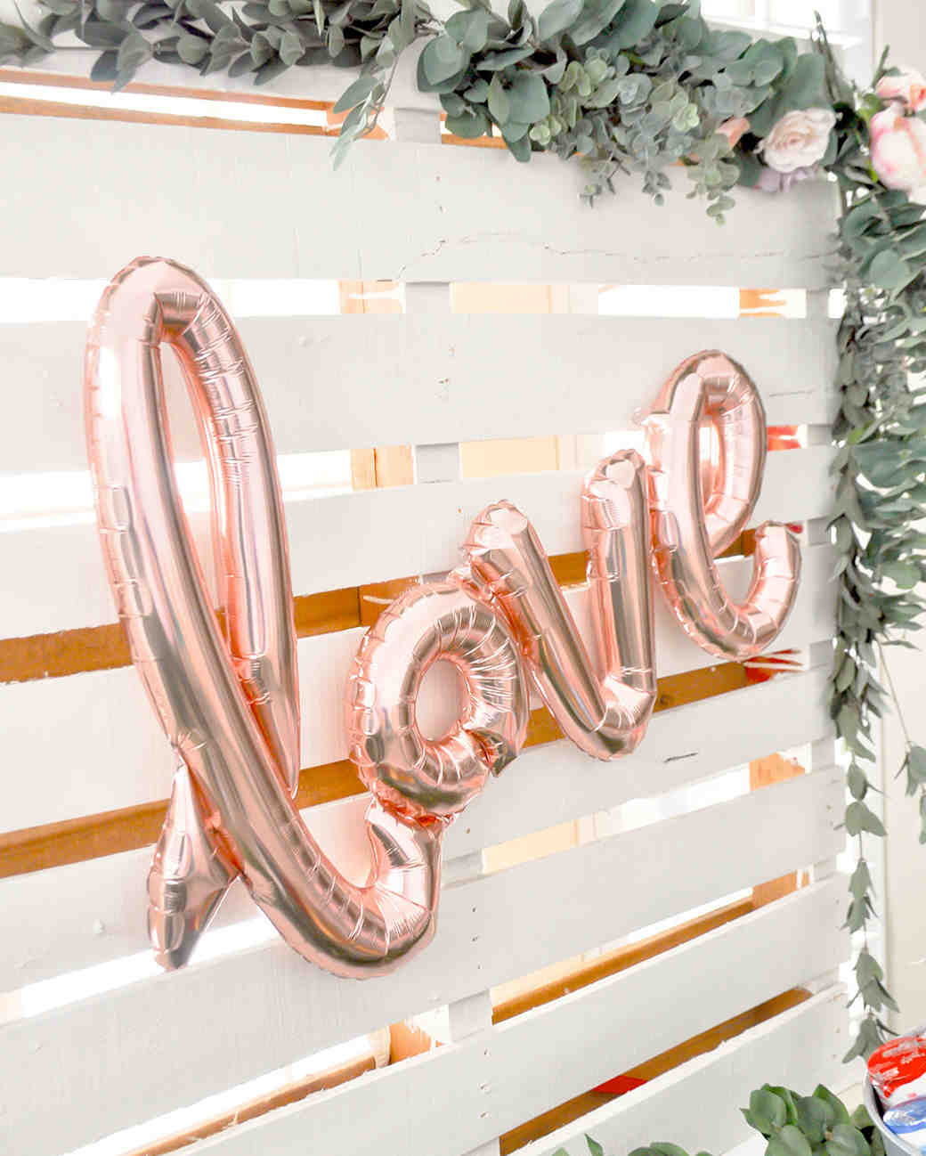 pink bridal shower love balloon