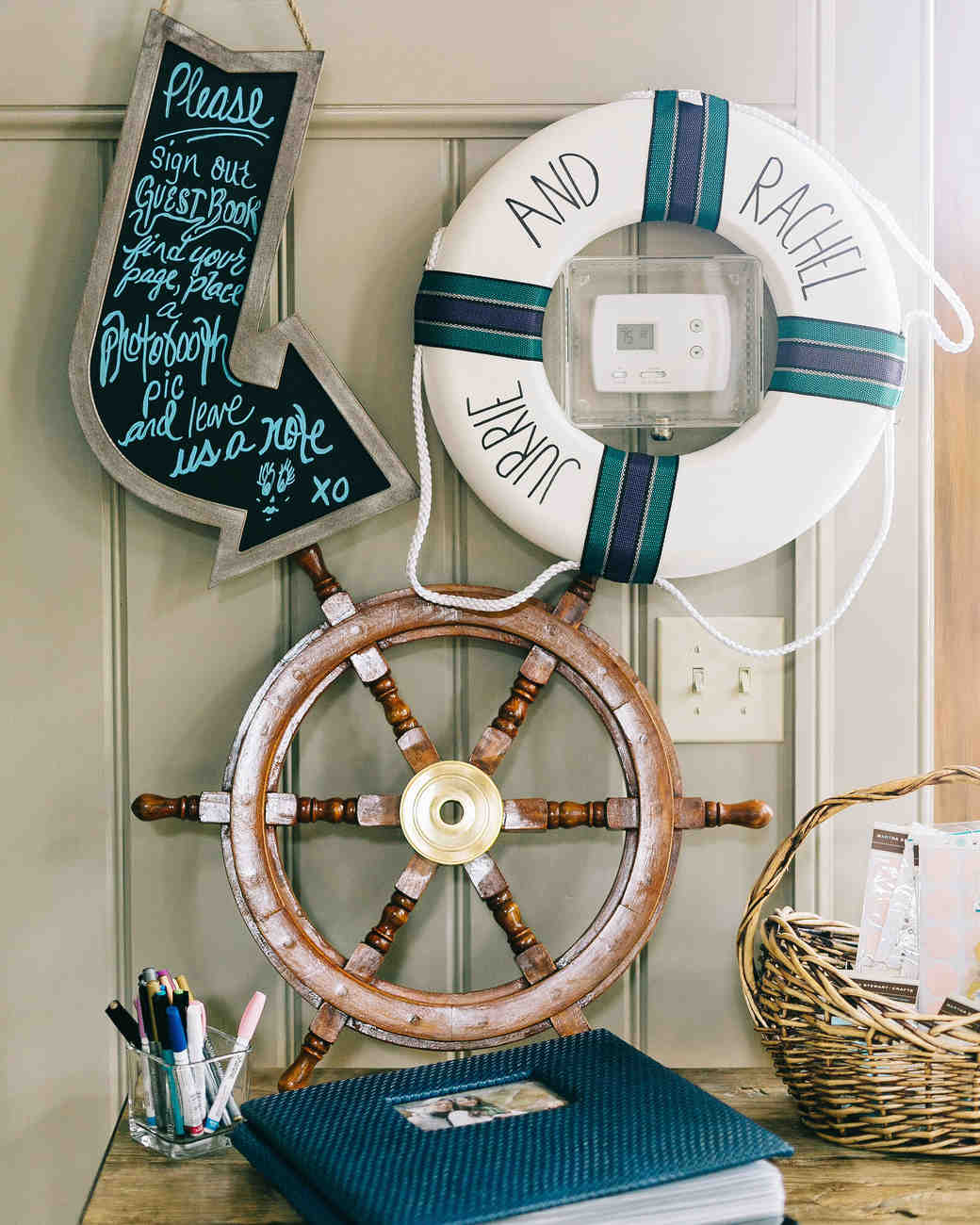 Anchor and Safety Throw Ring Accents Nautical