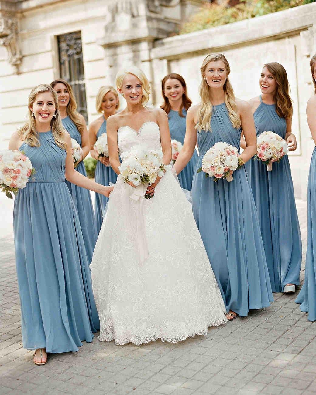 washington dc wedding bridesmaids wearing blue