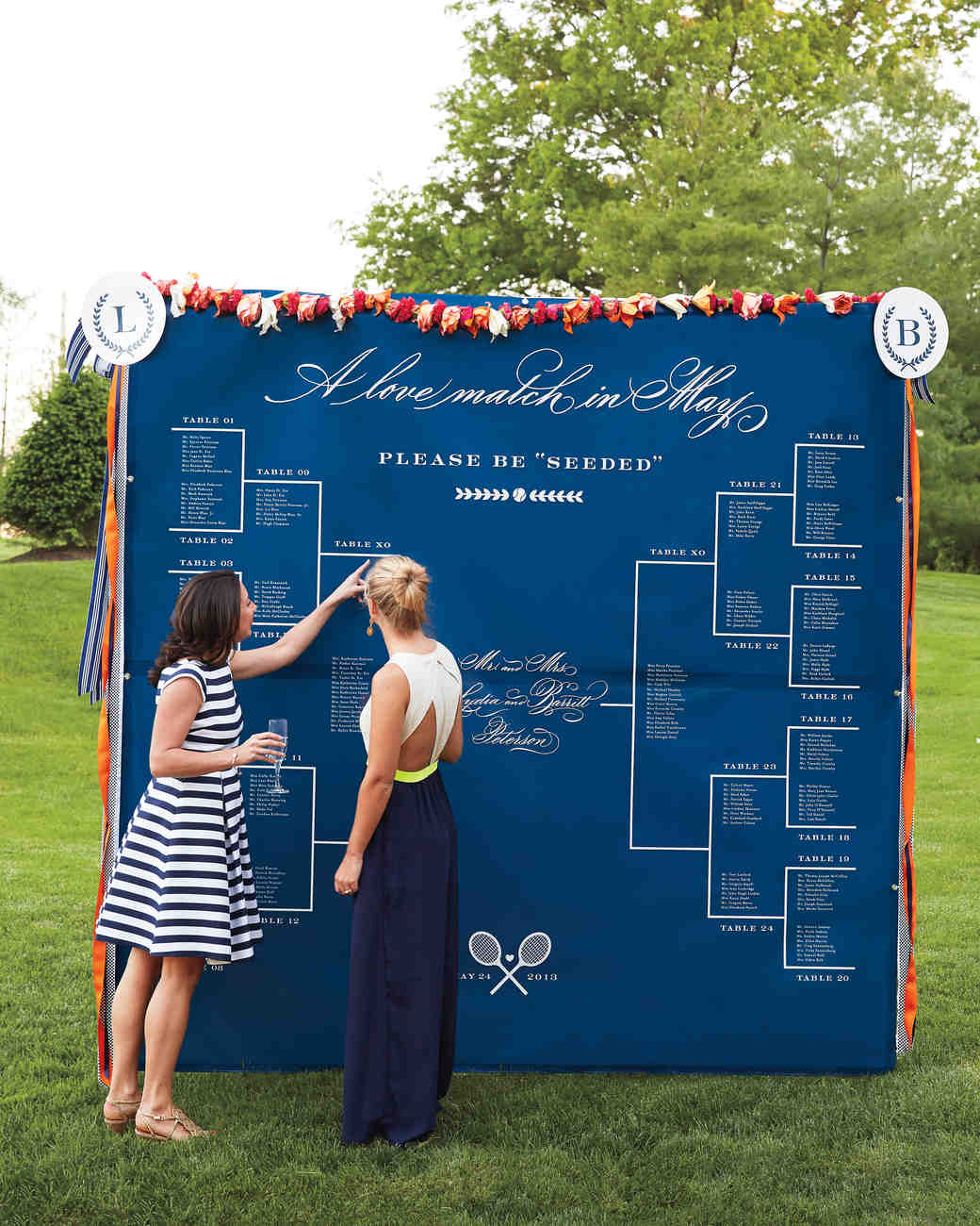 Tennis Seating Chart