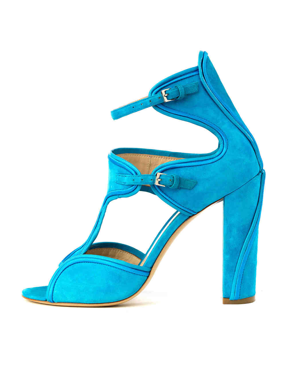 Monique Lhuillier Anja Suede Sandals