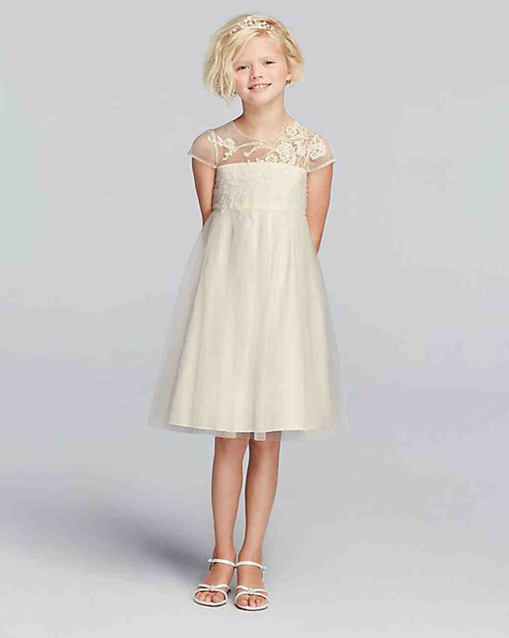 2f644a8938c Cute and Comfortable Short-Sleeve Flower Girl Dresses