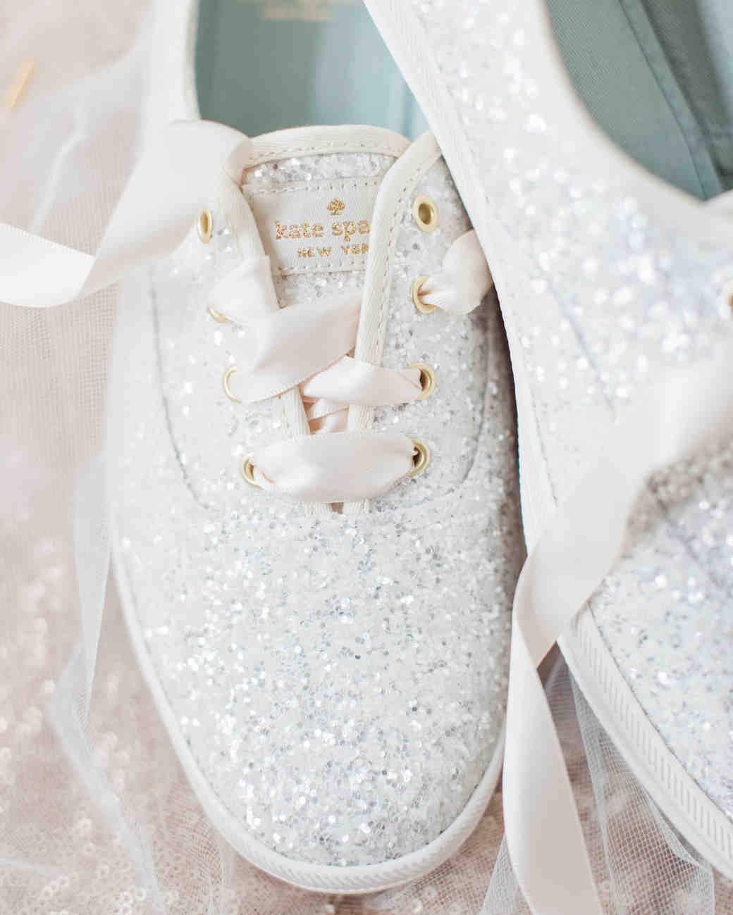 Silver Sparkly Wedding Sneakers